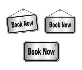 book now - silver signs