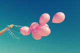 Fototapety pink balloons