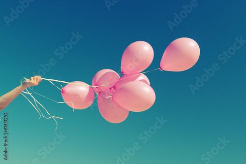 Leinwandbild Motiv pink balloons