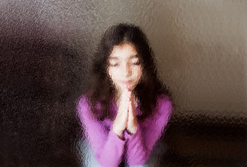 girl prays