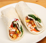 Spicy Chicken Wrap Sandwich