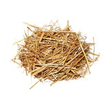 pile straw isolated on white