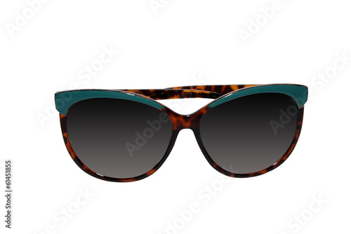 Leopard sunglasses with blue elements