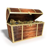 3d illustration of a Treasure Chest
