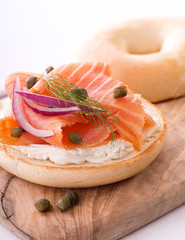 Lox and Bagel with Cream Cheese