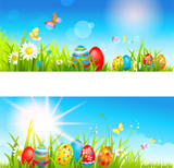 Two easter banners
