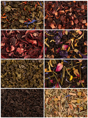Collection tea closeup