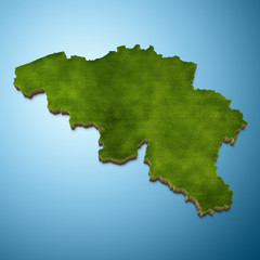 Belgium map - Belgian map grass