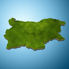 Bulgaria map - Bulgarian map grass