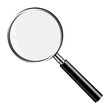 Realistic Vector Magnifying Glass, Lupe
