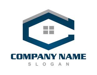 Letter C house logo