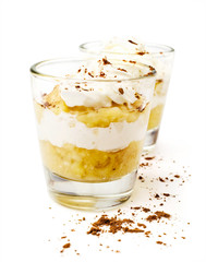 banana dessert with whipped cream