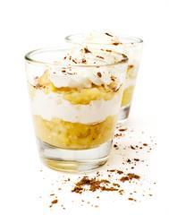 banana dessert with whipped cream