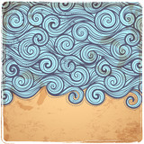 Blue Vintage Waves illustration