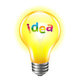 Bulb With Text Idea