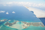 Aerial view of Exuma Cays. Bahamas