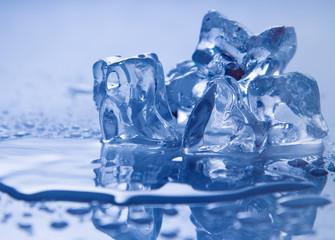 Melting ice on white.