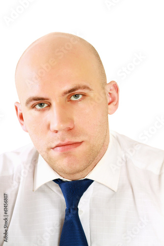 Portrait of a successful businessman on white background