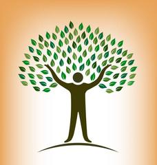 People Tree vector logo