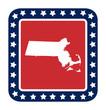 Massachusetts state button