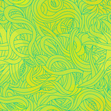 Leaf wave yellow-green seamless pattern