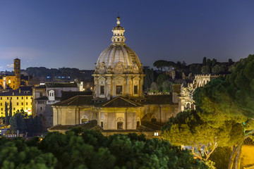 Church in the Roman Forum at Dusk