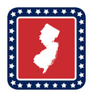 New Jersey state button