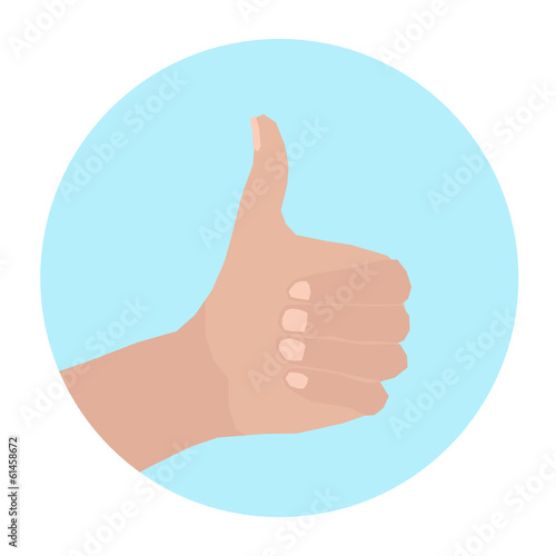hand in a circle with thumb up