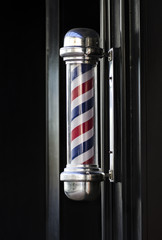 Men's barber hair dressing shop pole sign