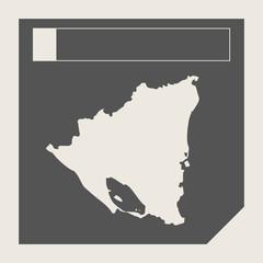 Nicaragua map button