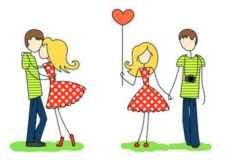 Enamoured guy and girl
