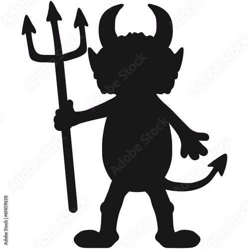 canvas print picture Teufel Mann Cartoon Figur