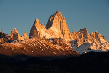 Mount Fitz Roy at sunrise, El Chalten, Argentina
