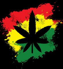 Marijuana rasta grunge