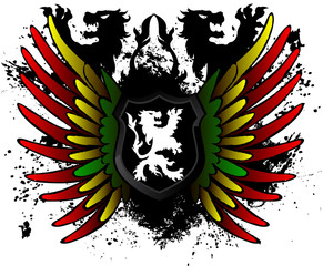 Rasta lion shield