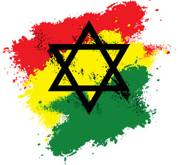 Rastafari Star of David Splash