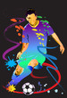 soccer art action colorful