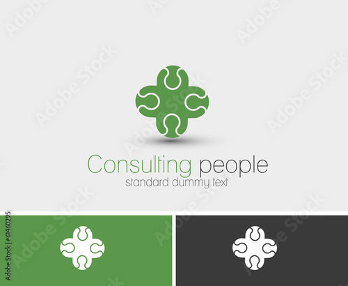 Symbol of Consulting, isolated vector design.