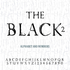 Black oil painted alphabet, vector Eps10 illustration.