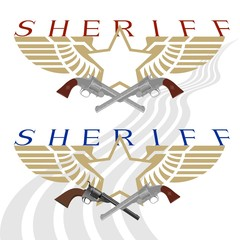 Sheriff badge and gun-2