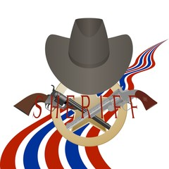 Sheriff badge and gun