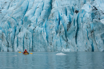Shoup Glaier kayaking, Valdez, Alaska