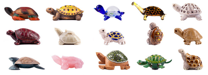 Set Of Decorative Turtles
