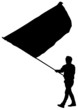 Younge man with flag