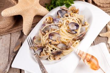 Italian Cuisine - Spaghetti With Clams