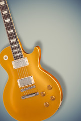 Vintage Gold top guitar