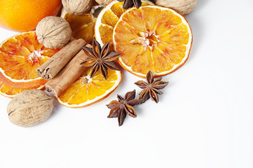 Orange and Christmas spices