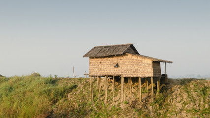 Hut on stilts