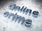 Security concept: Silver Online Crime on digital background