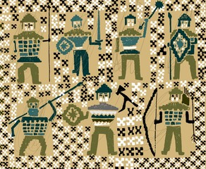 Солдатики викинги